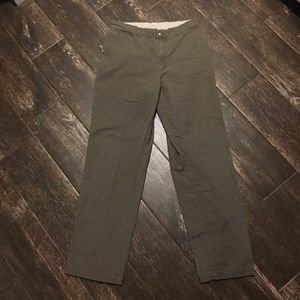 Columbia Green Hiking Outdoorsman Pants Sz 32x34